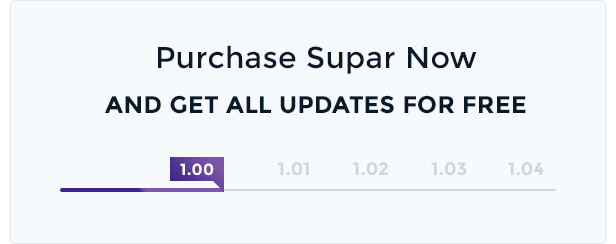Purchase Supar Now, Get Free Update Forever
