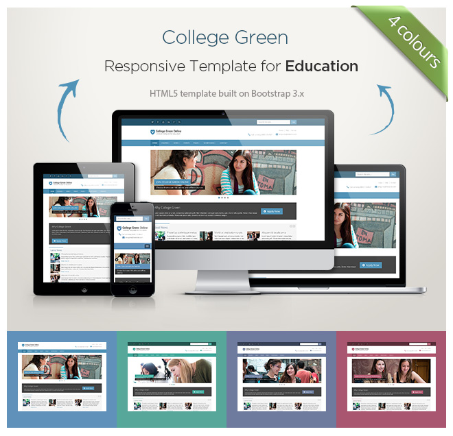 College Green - Education Bootstrap Theme