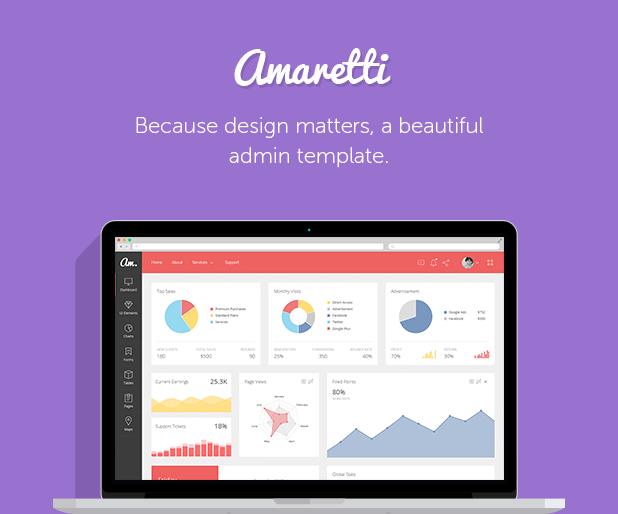 Amaretti - Responsive Admin Template