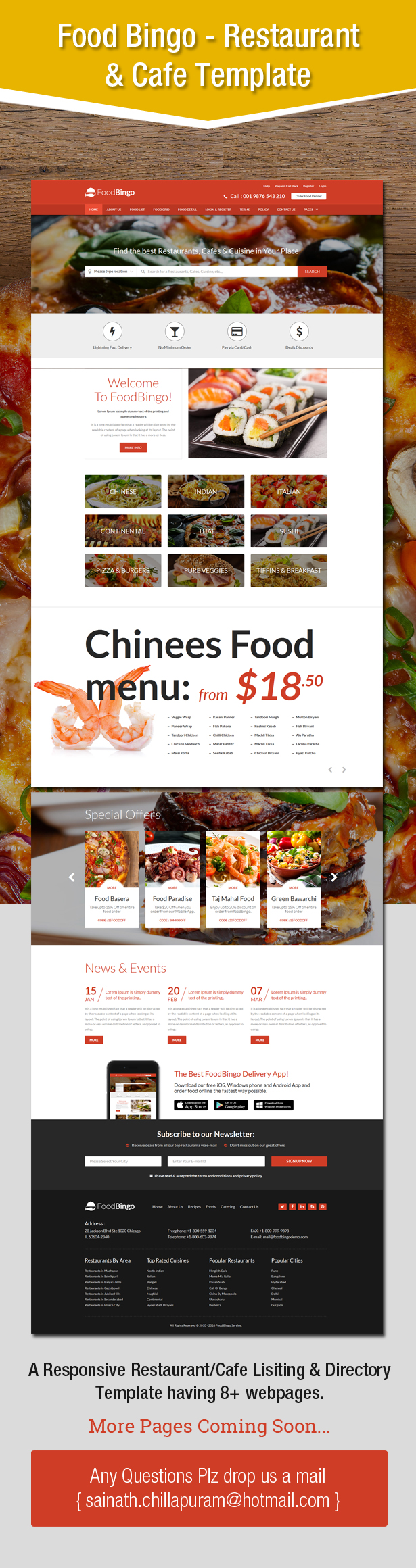 FoodBingo - A Responsive Restaurant/Cafe Lisiting & Directory Template
