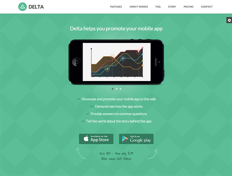 Delta - Responsive HTML5 template for promoting your mobile app