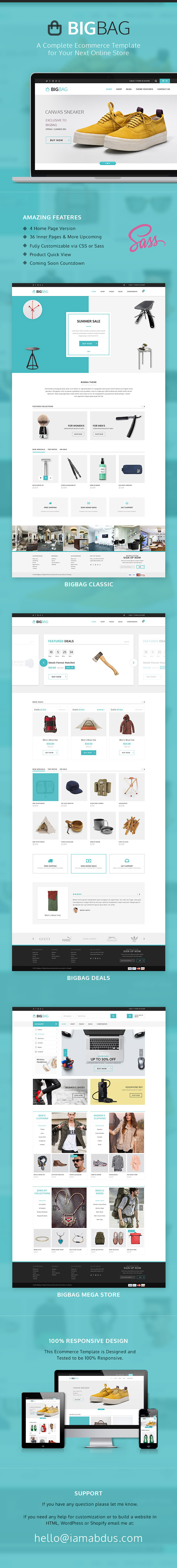 BigBag HTML Bootstrap E-commerce Templatet