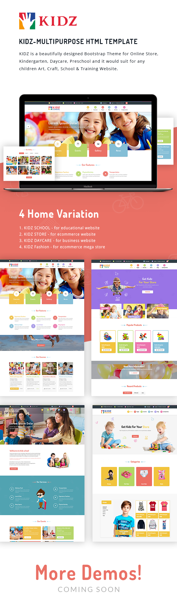 Kidz - Multipurpose Children Kids Theme