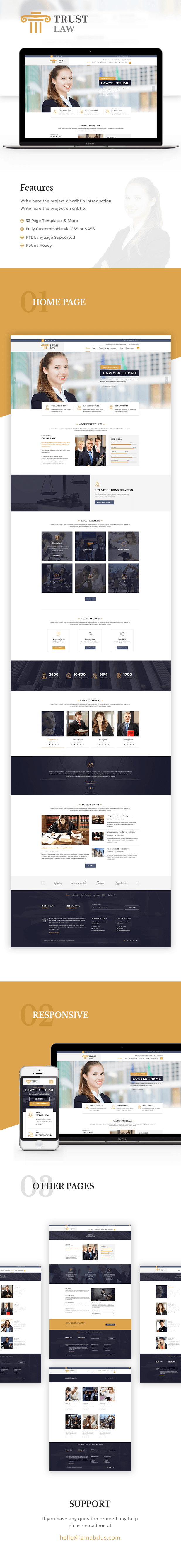 Trust - Modern Lawyer Attorney Theme