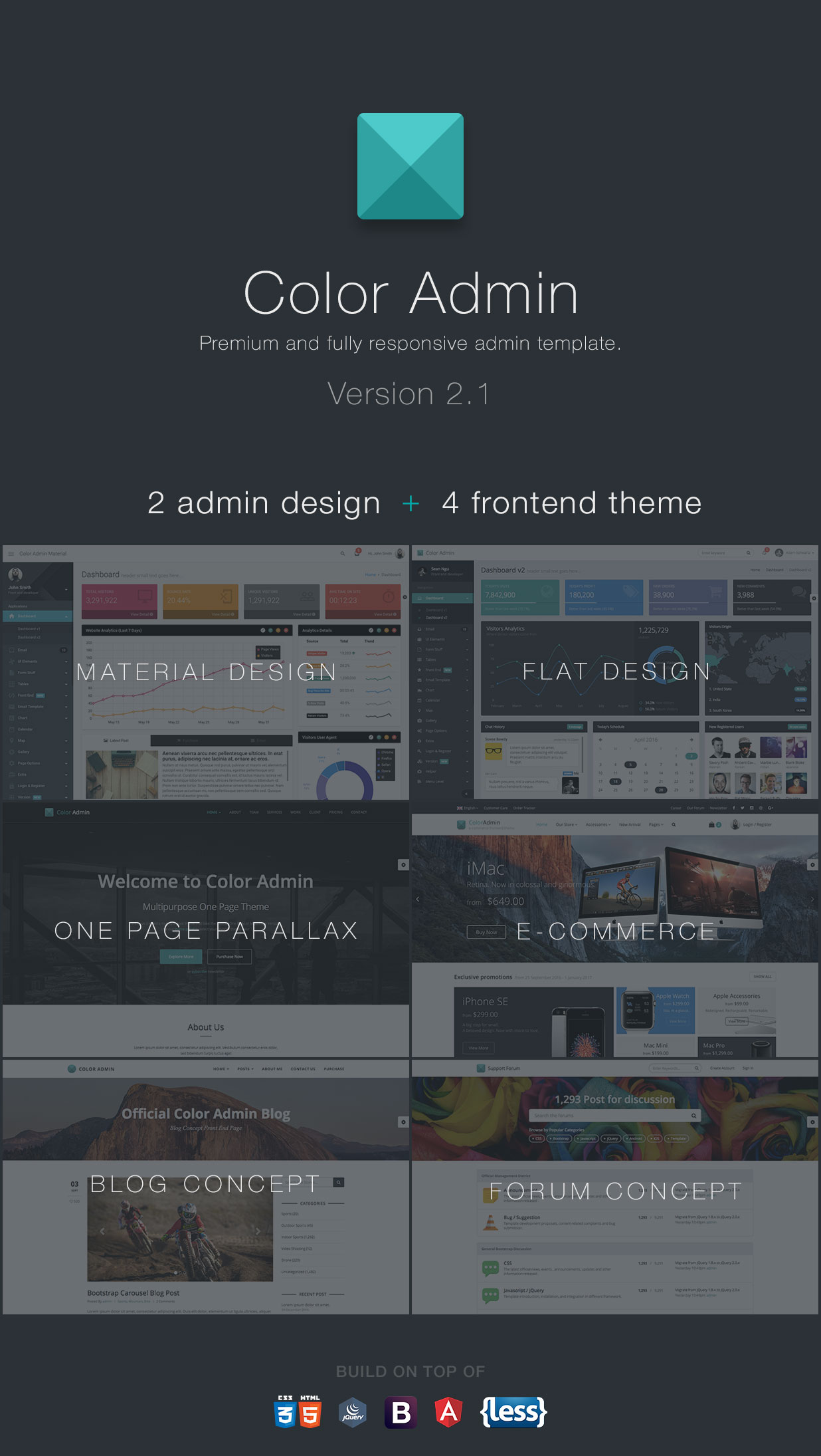 Color Admin – Admin Template + Front End | Admin & Dashboards | WrapBootstrap – Bootstrap Themes & Templates