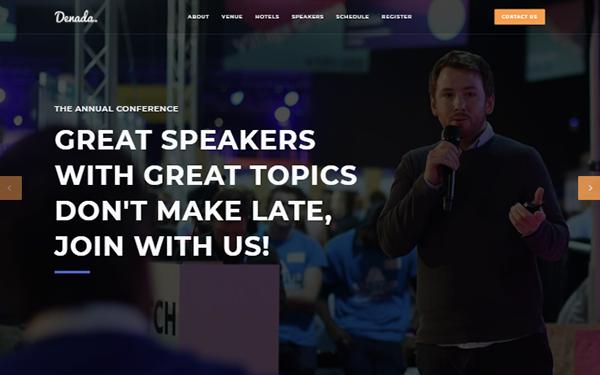 [Denada - Conference & Event Landing Page]