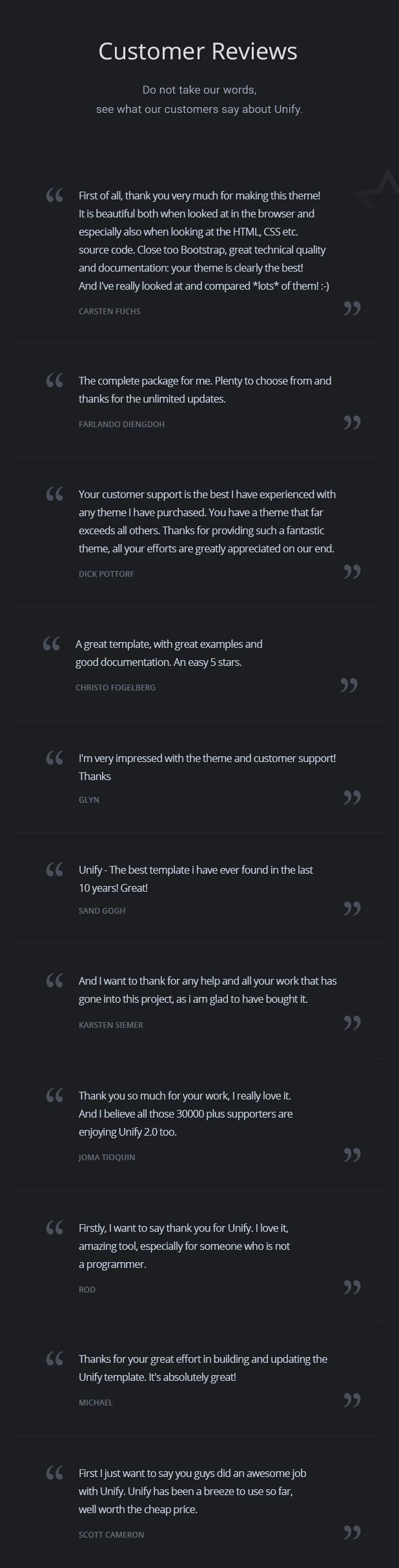 Unify v2.0 Item Page