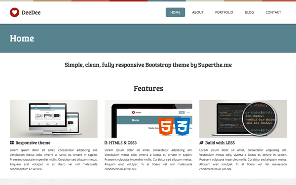 DeeDee - 5 Color Responsive Theme