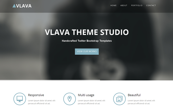 one page bootstrap theme
