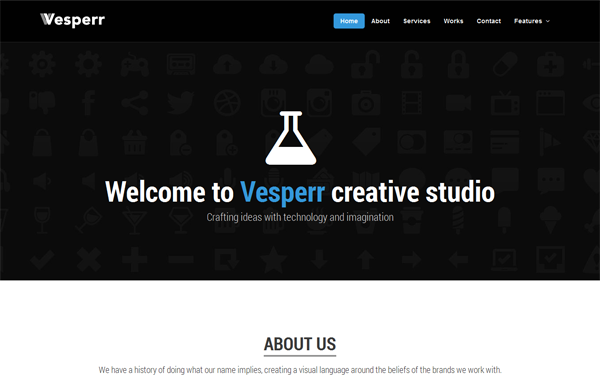 clean one page bootstrap theme