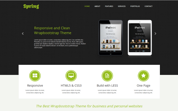 Spring - One Page Responsive Template
