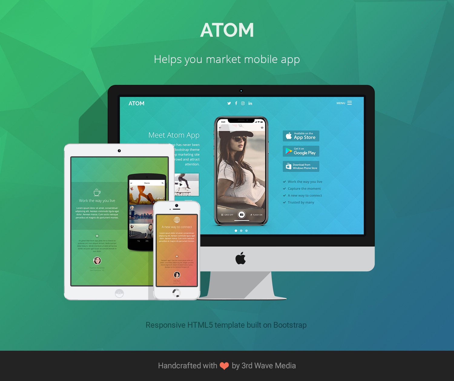 Atom - Designed for mobile apps