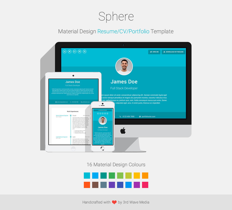 Sphere - Resume/CV/Portfolio