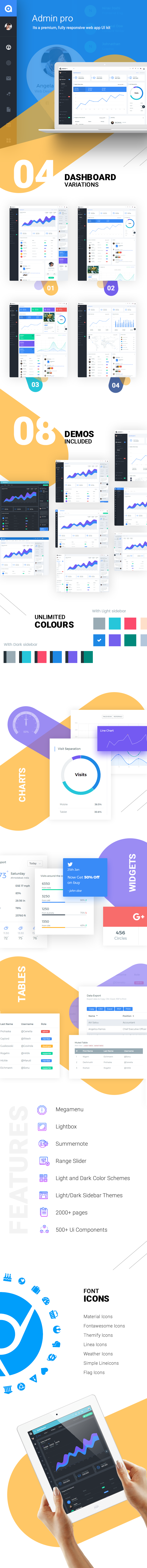 AdminPro Dashboard Features
